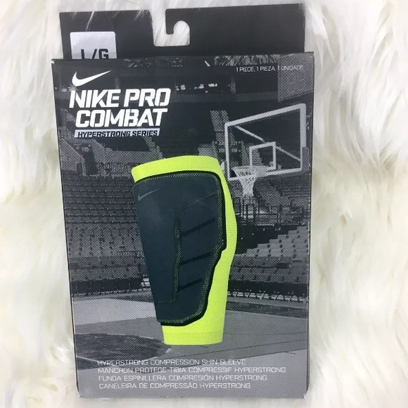 56241f8012 Nike Accessories | New Mens Pro Combat Hyperstrong Shin Sleeve ...